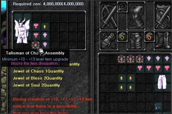 Vylepšování itemů od 10-15
