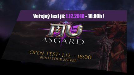 Asgard MU představení + veřejný test